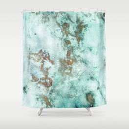 MARBLE - INKED INCEPTION - GOLD & ICE Shower Curtain