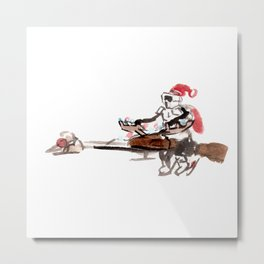 Santa Scout is Coming Metal Print