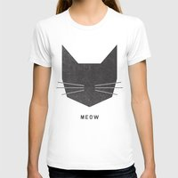 background T-shirts featuring MEOW by Wesley Bird