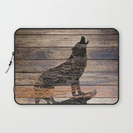 Rustic Wolf Silhouette A383 Laptop Sleeve