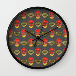 Skull Diamond Wall Clock