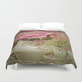 Teacups and Roses 2 Duvet Cover