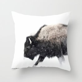Prancing Buffalo Throw Pillow