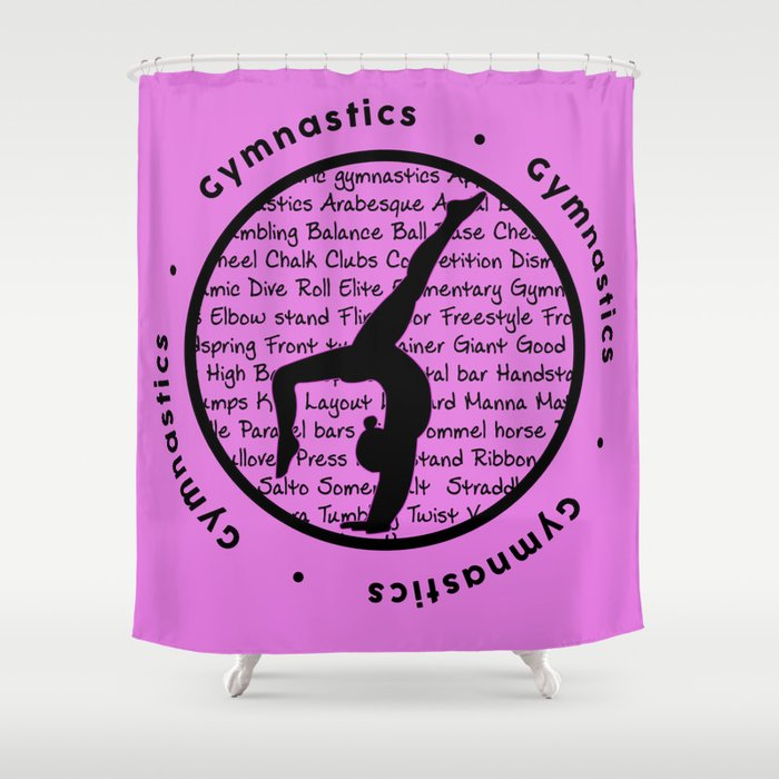 Pink Gymnastic Circle Symbol Shower Curtain By Laoof Society6