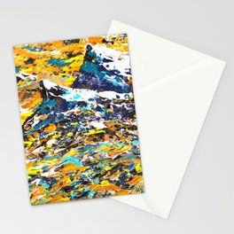 Mountain Art - Abstract Art Stationery Cards
