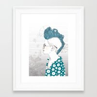 punk Framed Art Prints featuring Punk by katiwo
