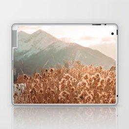 Golden Wheat Mountain // Yellow Heads of Grain Blurry Scenic Peak Laptop & iPad Skin