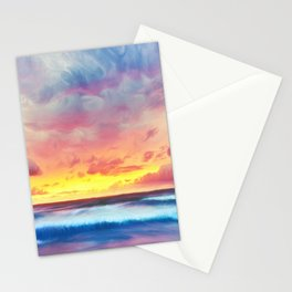Lonas planet stormy evening Stationery Cards