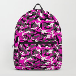 Pink Camouflage Girl Dancer Silhouettes Backpack
