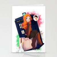 amy pond Stationery Cards featuring Doctor Who - Amy Pond by Lucy Fidelis