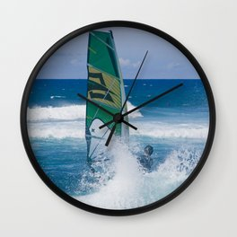 Hookipa Windsurfing North Shore Maui Hawaii Wall Clock