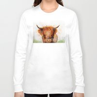 cow Long Sleeve T-shirts featuring Cow by emegi