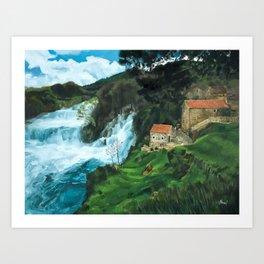 Waterfall in Krka Art Print