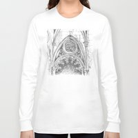 gothic Long Sleeve T-shirts featuring gothic by Tereza Del Pilar