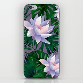 Leaves and flowers iPhone Skin