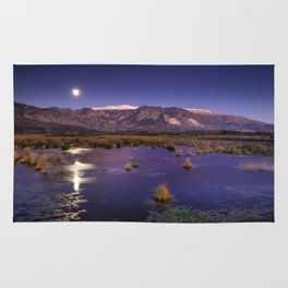 moonlight over the mountains Rug