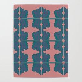 Luxury vint. mandalas BLUE PINK Poster