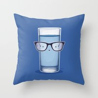 glasses Throw Pillows featuring Glasses by Nabhan Abdullatif