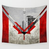 canada Wall Tapestries featuring Flags - Canada by Ale Ibanez