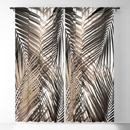 Golden Brown Palm Leaves Dream - Cali Summer Vibes #1 #tropical #decor #art #society6 Blackout Curtain