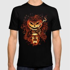 Halloween Pumpkin King (Lord O' Lanterns) Black MEDIUM Mens Fitted Tee