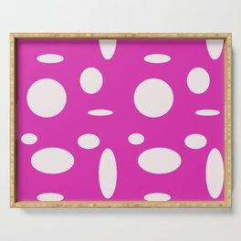 Pink Polka Dot Serving Tray