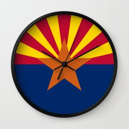 Arizona: Arizona State Flag Wall Clock