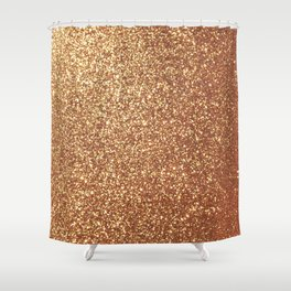 Bright Shiny Spanish Galleon Gold Glitter Shower Curtain