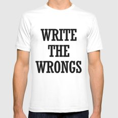 WRITE THE WRONGS Mens Fitted Tee White MEDIUM