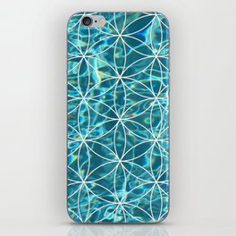 Flower of life in the water iPhone Skin
