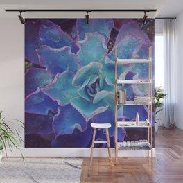 Blue Echeveria Wall Mural