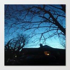 Creepy night trees Canvas Print