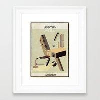 babina Framed Art Prints featuring  lissitzky+holl by federico babina