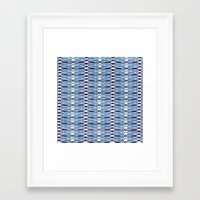 batik Framed Art Prints featuring Blue Batik by Elena Indolfi