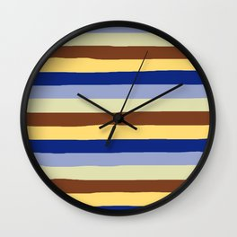lumpy or bumpy lines abstract and summer colorful - QAB277 Wall Clock