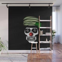 Irish Clown Skeleton Wall Mural