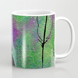 French Kissed Textured Feathers Coffee Mug