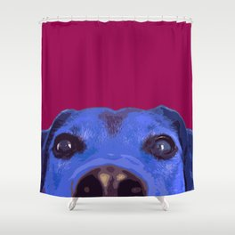 Dog nose, Pop art dog portrait Shower Curtain