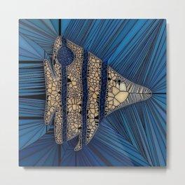 Fish Mosaic Metal Print