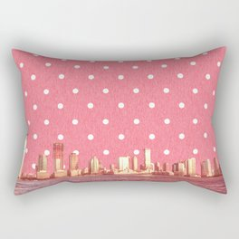 View from NYC and Polka Dots Rectangular Pillow