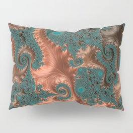 Copper Leaves - Fractal Art Pillow Sham