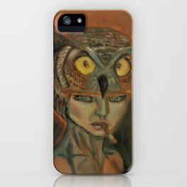stare of an owl iPhone Case