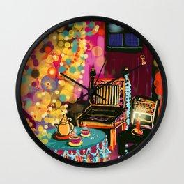Tea With Gypsies Wall Clock