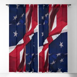 RED, WHITE AND BLUE Blackout Curtain