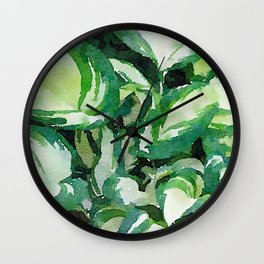 Hosta Shades Wall Clock