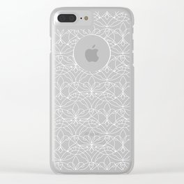 Interwoven XX - Orchid Clear iPhone Case