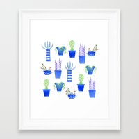 succulents Framed Art Prints featuring Succulents by Nic Squirrell