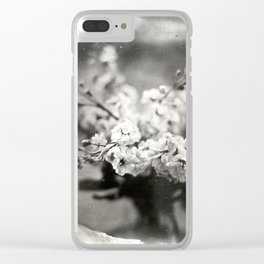 Flower Bouquet Tintype Clear iPhone Case