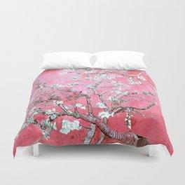 Van Gogh Almond Blossoms : Pink & Aqua Duvet Cover