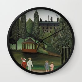 View of Montsouris Park, the Kiosk (Vue du Parc Montsouris, Le Kiosque) (ca. 1908–1910) ) by Henri Rousseau Wall Clock